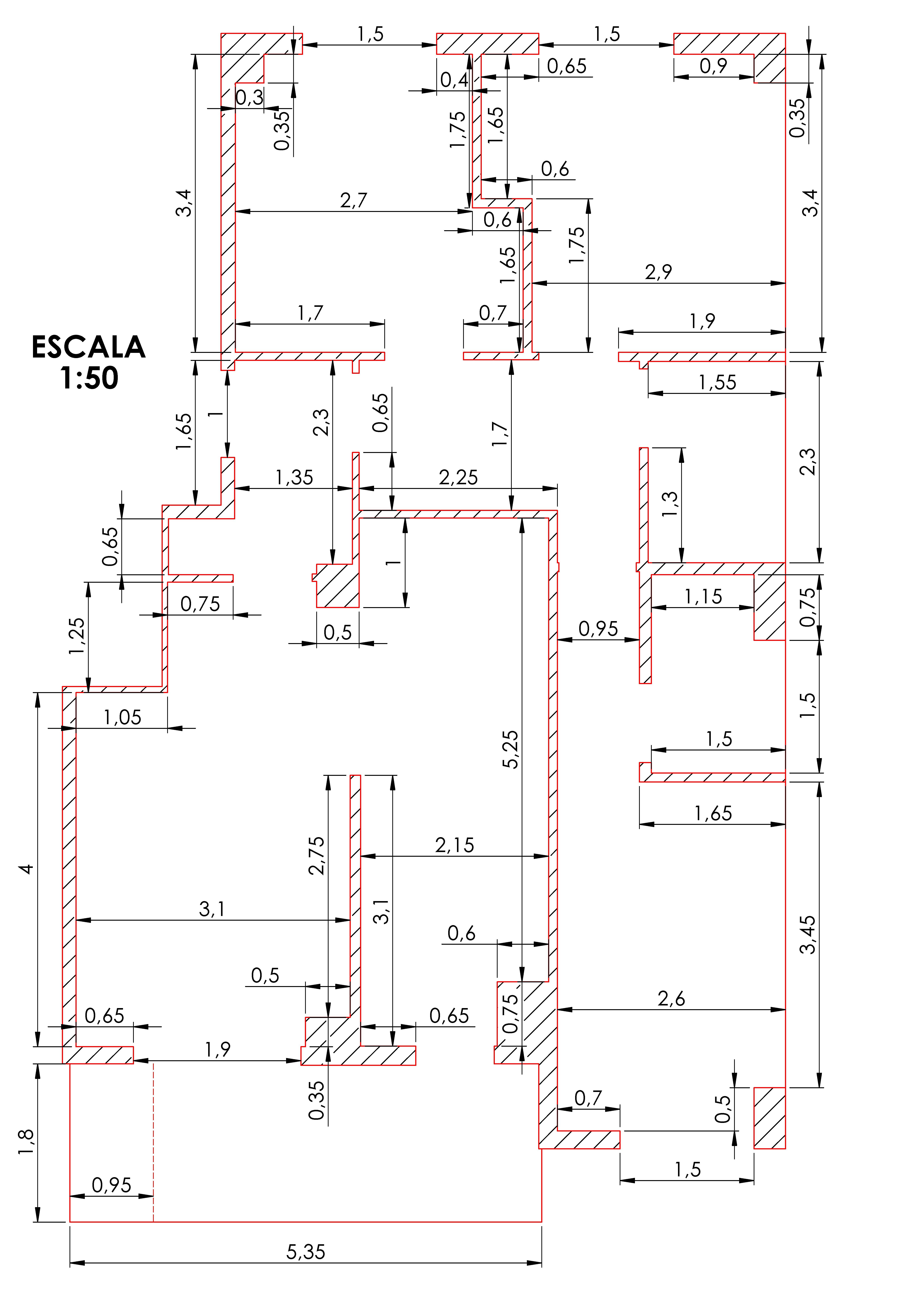 Dorre barriak documento plano acotado de los pisos del for Normas para planos arquitectonicos