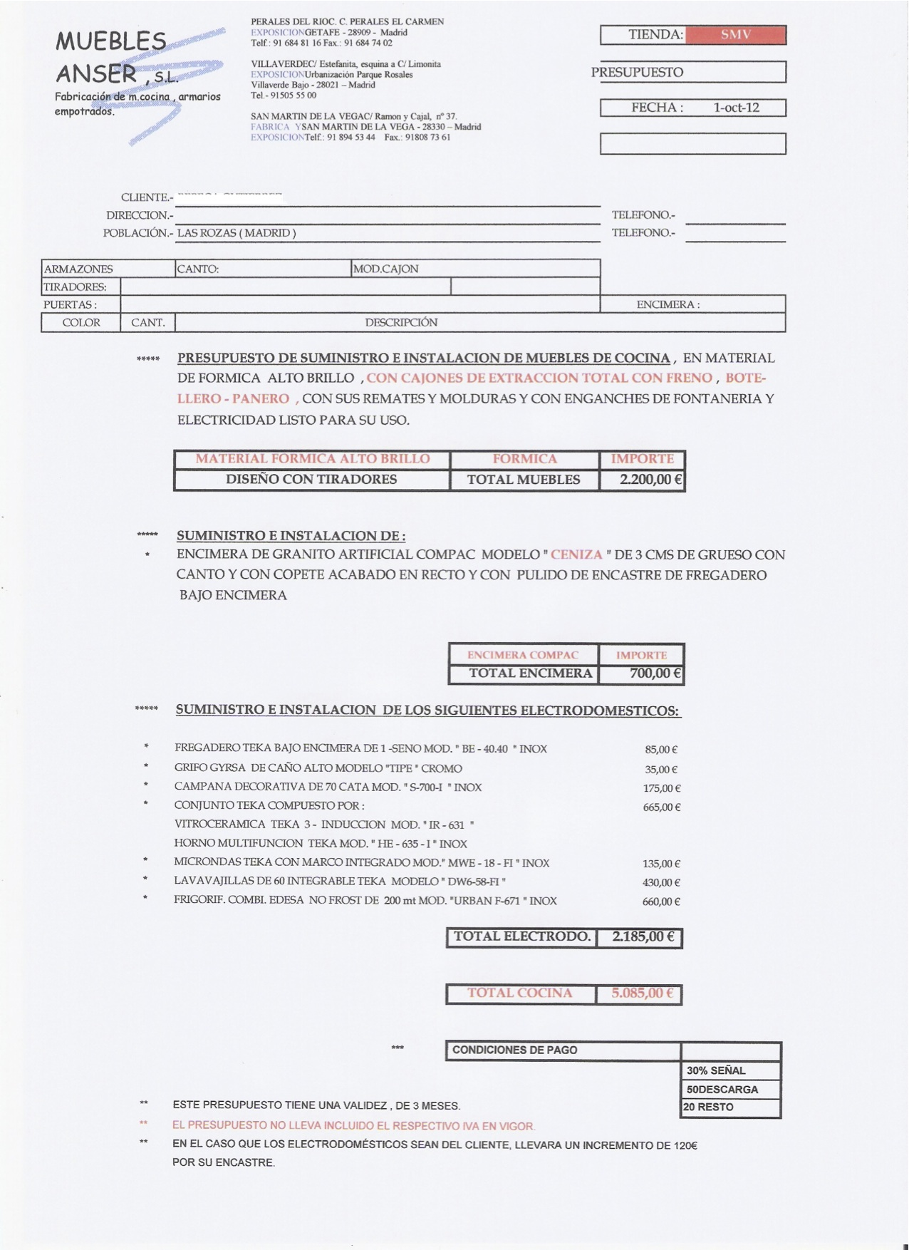 Emgv marazuela 2 conv documento presupuesto - Presupuesto cocina completa ...