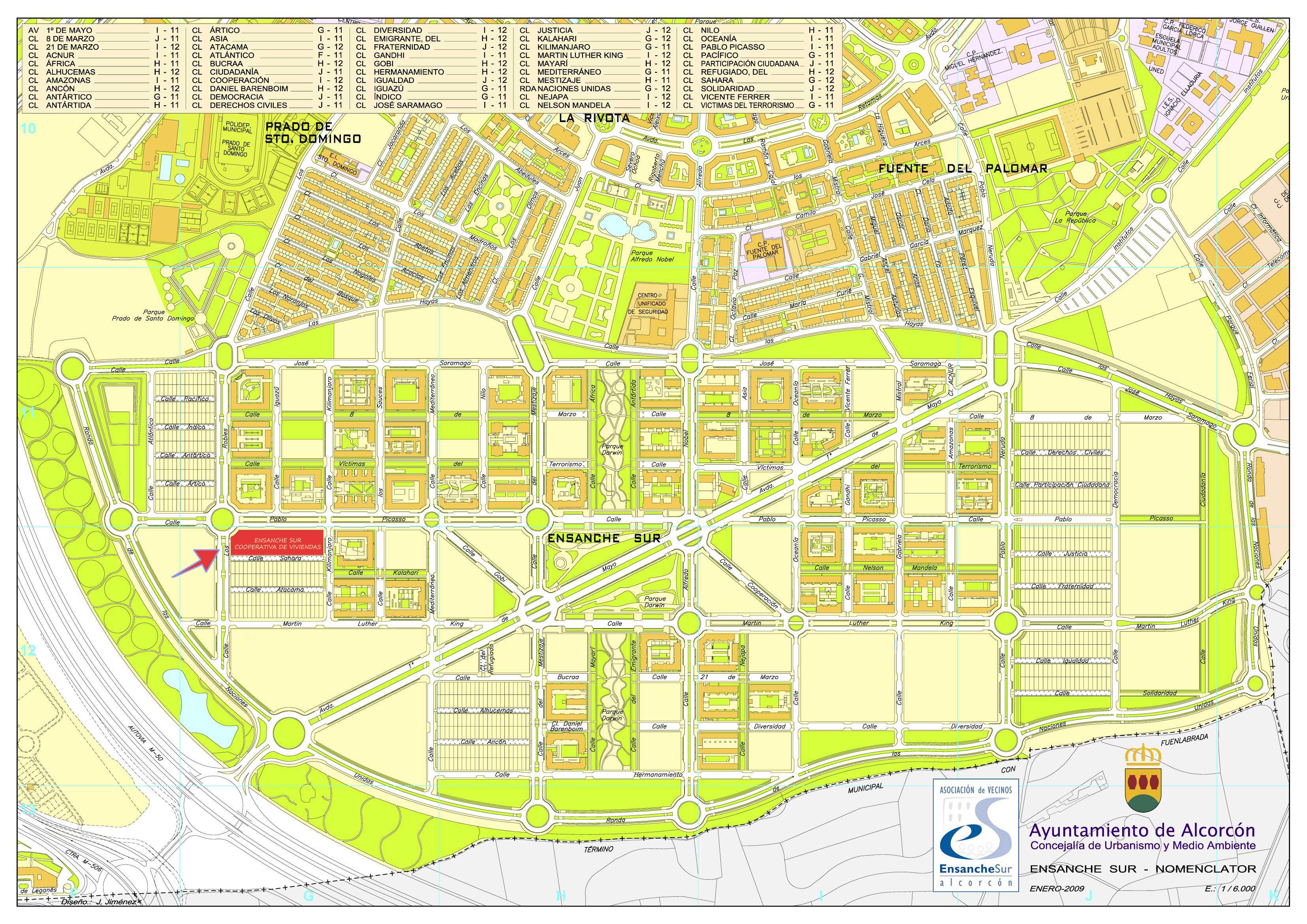 Ensanche sur cooperativa de viviendas documento plano de situaci n - Casas en alcorcon ...