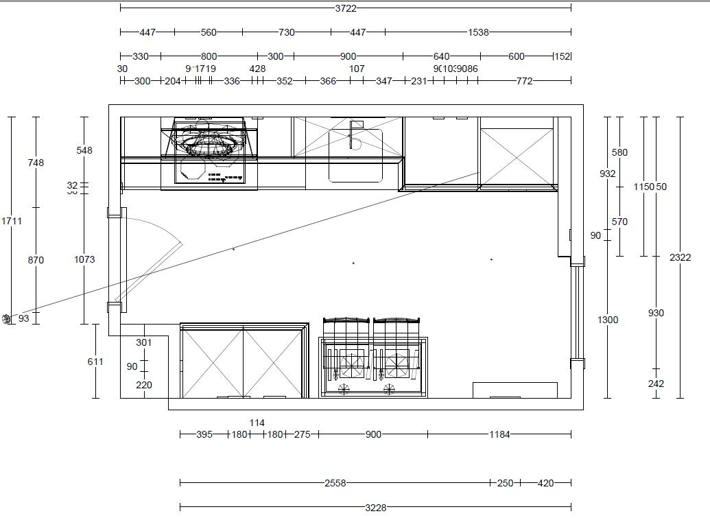 Iv plan de vivienda rivas documento proyecto cocina con for Medidas cocina restaurante