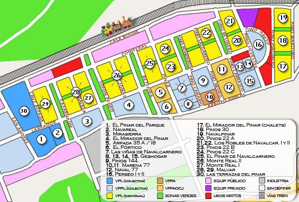 Las terrazas del pinar documento mapa de los barrios de for Codigo postal del barrio de salamanca en madrid