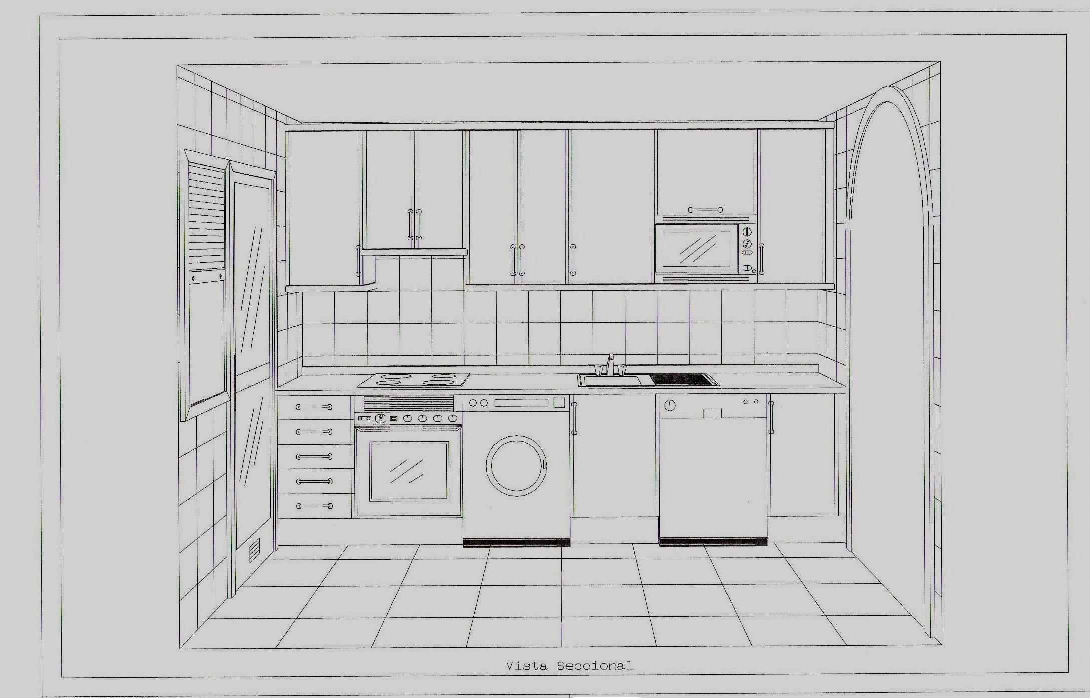 Ensanche vallecas emv 14 documento plano 1 cocina 1 for Planos para barra de cocina