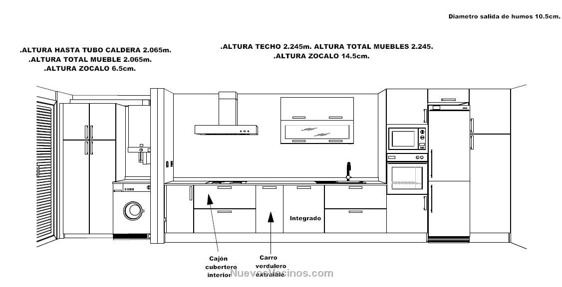 Hercesa vppl sector 11 fotos medidas cocina for Medidas de mobiliario de cocina