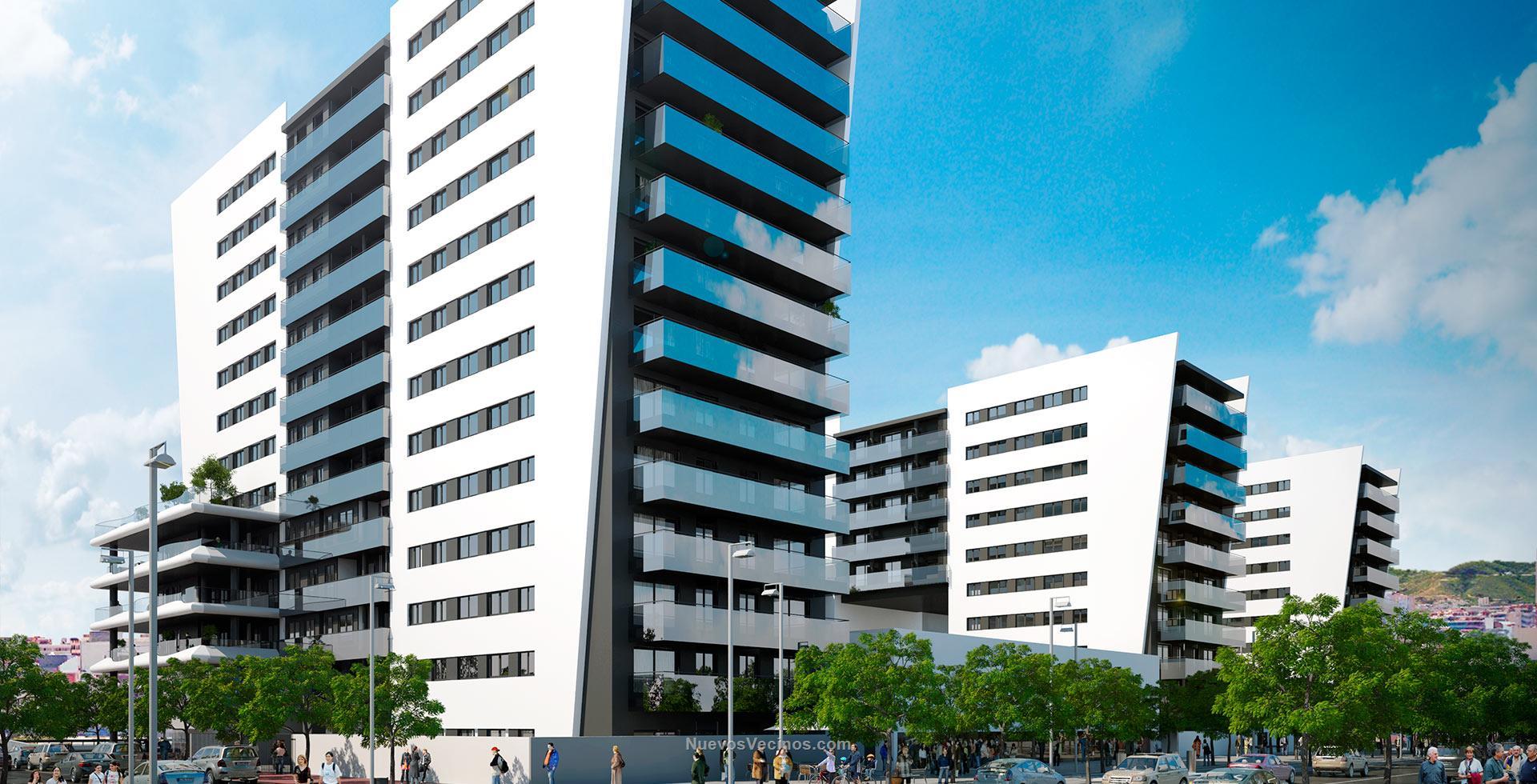 Kronos h2o fotos render fachada for Exterior edificios