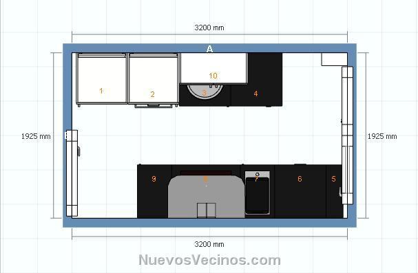Edificio para so i fase i fotos plano cocina ikea for Plano de cocina de 3x5