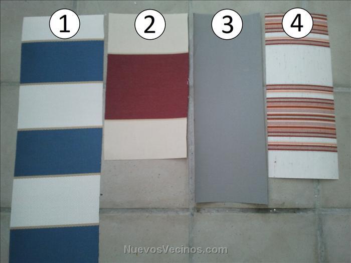Pincasa las terrazas vppl fotos muestra telas de for Recambios de telas para toldos