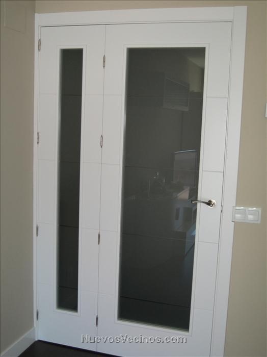 Soto del henares m14 fotos puerta del salon hueco doble - Cristales para puertas de salon ...